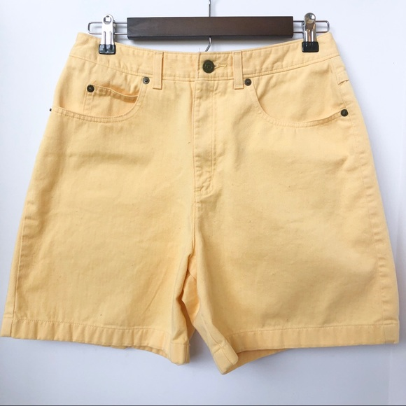 Talbots Pants - Talbots Yellow 5-Pocket Shorts • Size 8